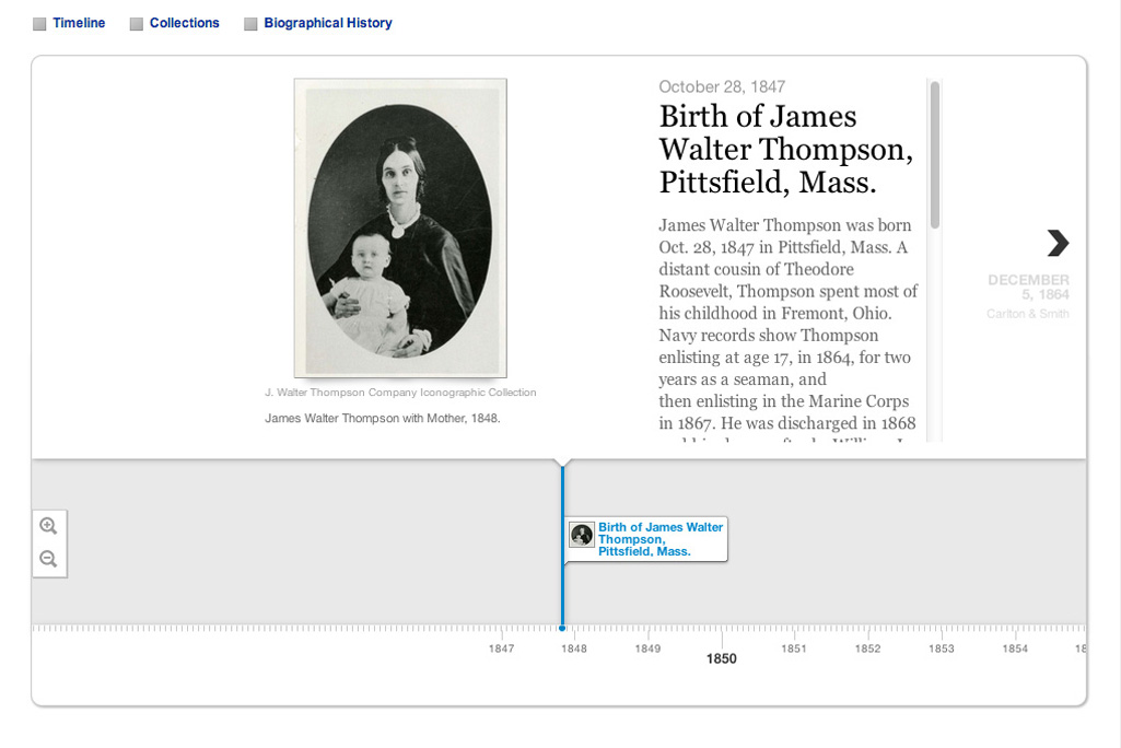 J. Walter Thompson Company Timeline