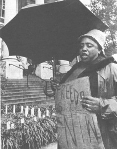 Fannie Lou Hamer in Hattiesburg.