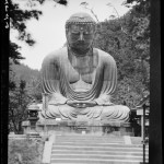 Daibutsu (Great Buddha of Kamakura) — 镰仓大佛. Taken by SIdney Gamble, possibly in 1917.