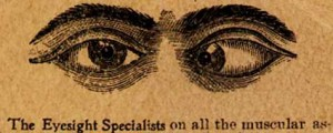image of crossed eyes from an old advertisement