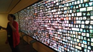 Interactive wall at the Cleveland Museum of Art