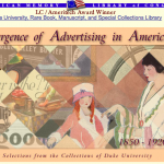 A screen capture of the top portion of the American Memory splash page for the Emergence of American Memory collection, in August 2001.