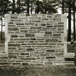 Test stone wall created by University to select the stones for our Gothic campus.
