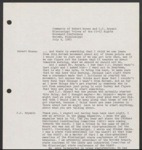 Transcript from an oral history in the Joseph Sinsheimer papers.