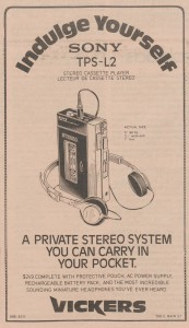 Sony Private Stereo Ad, February 12, 1980