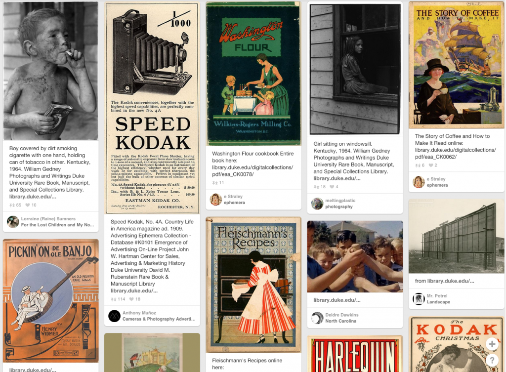 Digital Collections items pinned on Pinterest