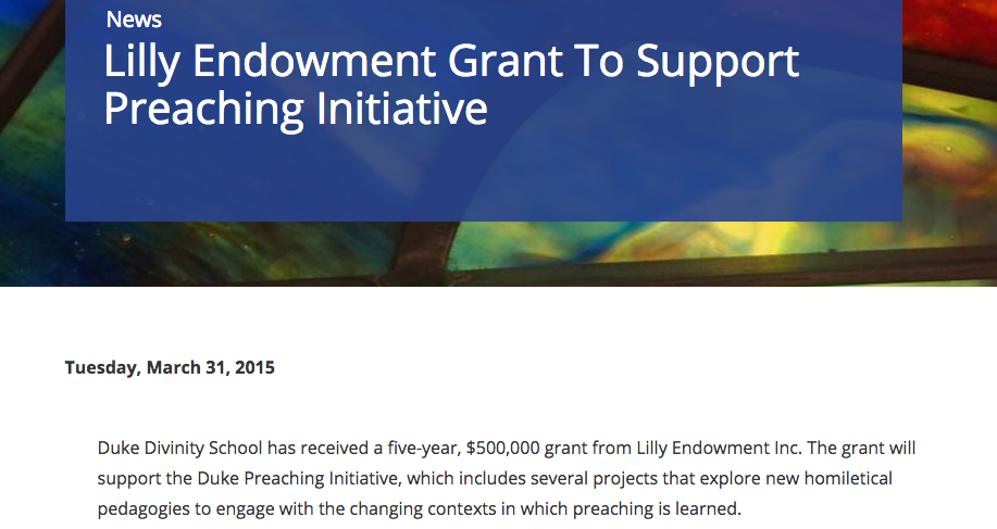 Duke Chapel Recordings project was made possible by a grant from the Lilly Endowment.