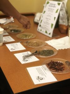 A photo of different types of teas from the Tea-laxation event.