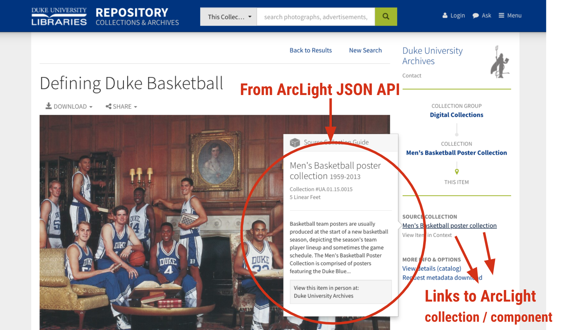 Duke Digital Repository pulls archival info from ArcLight