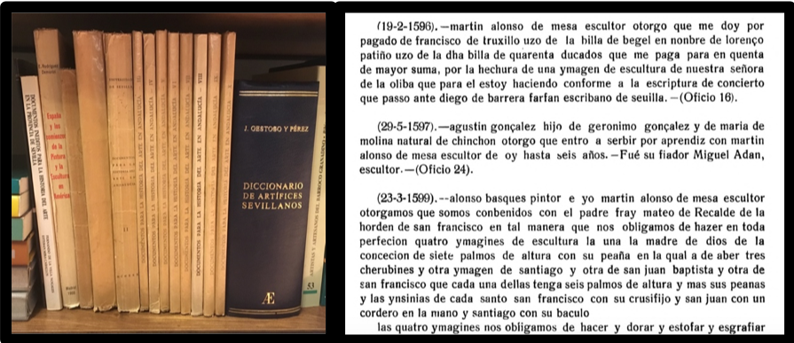 Image of books and extracted text examples.