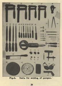 Welding tools, WWII collection