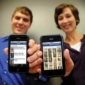 photo of the dukemobile app on an iphone