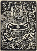 Roger Fry, The London Garden from Frys Twelve Original Woodcuts