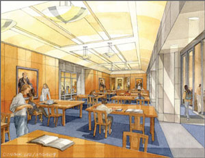 rendering of reading room