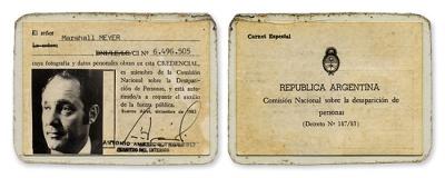 Marshall Meyer ID card