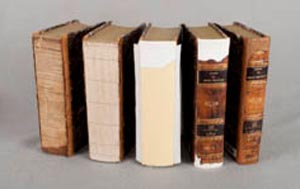 Books spines