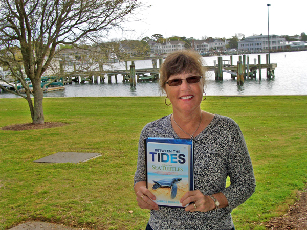 Pearse Memorial Library, Duke Marine Lab, Beaufort, NC: Janil Miller, Librarian at the Duke Marine Lab, has just picked up some new books to put on reserve for a course on the biology and conservation of sea turtles. The course includes a field expedition to Puerto Rico to study the turtles in their natural habitat. The only Duke library with an ocean view, the Marine Lab Library primarily collects books, scholarly periodicals, and other resources focused on the marine environment.