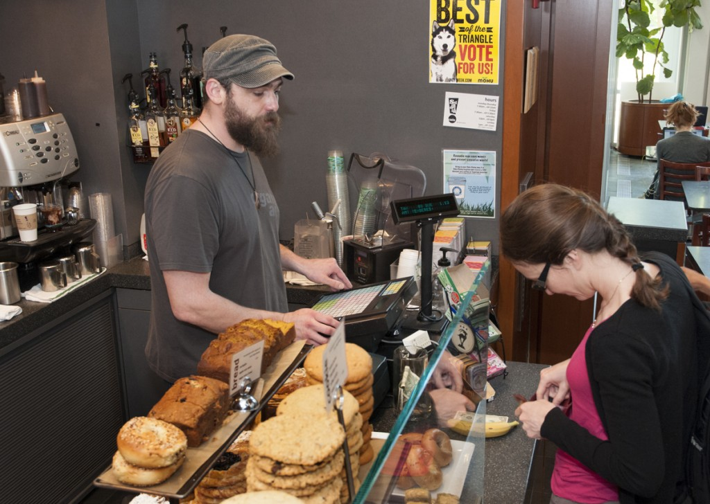 Von der Heyden Pavilion: Saladelia staff dish up coffee and tasty treats to an average 2,000 customers a day.