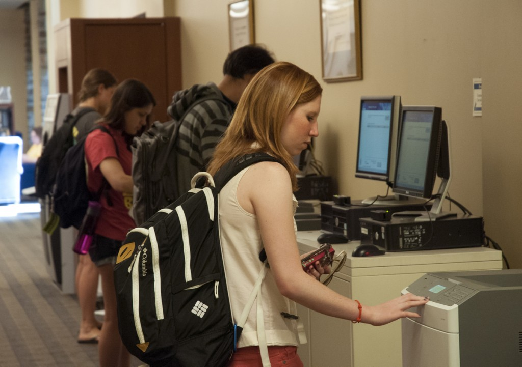Perkins Library: Who says print is dead? Students take advantage of free printing in the Libraries through ePrint, a popular campus-wide service.