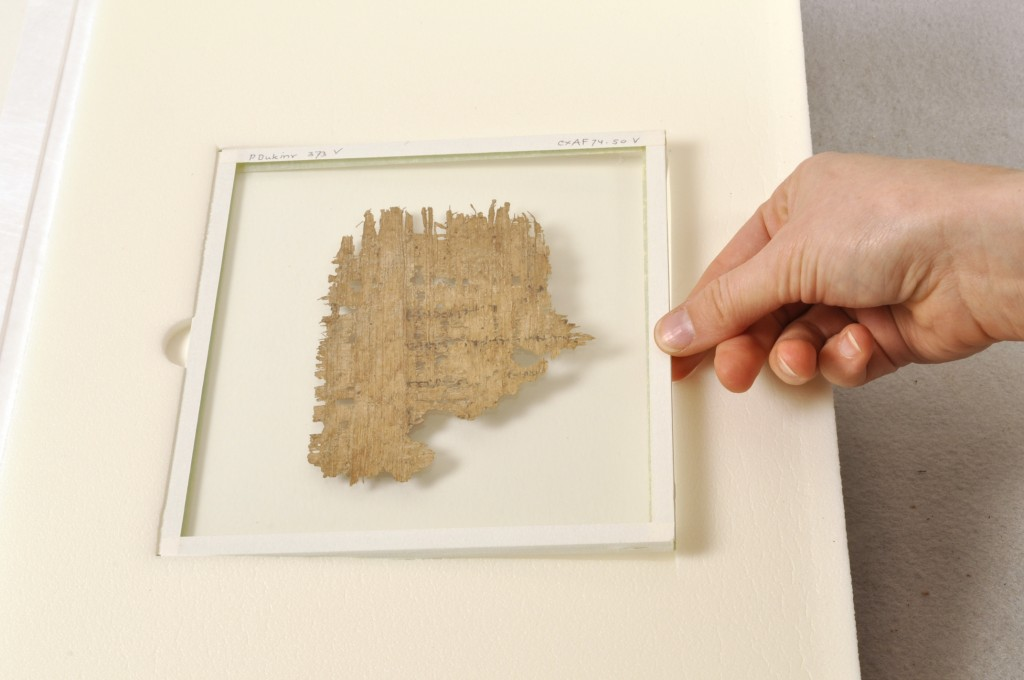 Papyri fragment from Duke's collection. Duke was one of the first universities to digitize its papyri collection and make it freely available online.