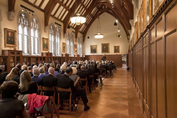 The ceremony took place in the Gothic Reading Room.