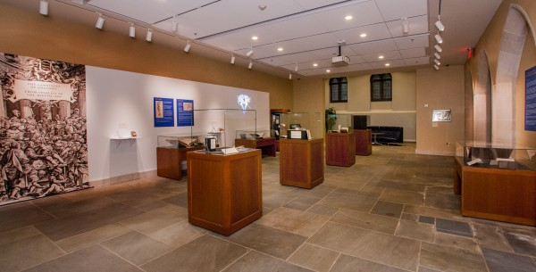 With the renovation, the former Perkins Gallery outside the von der Heyden Pavilion was moved closer to the library entrance and renamed the Jerry and Bruce Chappell Family Gallery. The opening exhibit traced the history of medical visualization, starting with the work of Andreas Vesalius and his groundbreaking 1543 study of human anatomy, De Humani Corporis Fabrica (On the Fabric of the Human Body).