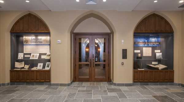 Directly across from the main entrance are the doors to Mary Duke Biddle Room, which has been transformed into a state-of-the-art exhibit space for the treasures of the Rubenstein Library. Exhibits play an important role in the outreach mission of the Libraries. They also showcase the breadth and diversity of what a great library system like Duke's has to offe