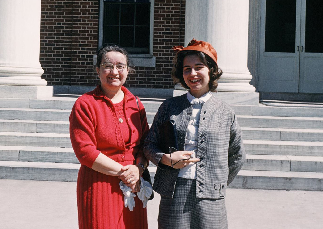 Barbara Figge and mother Rosalie Figge at Duke