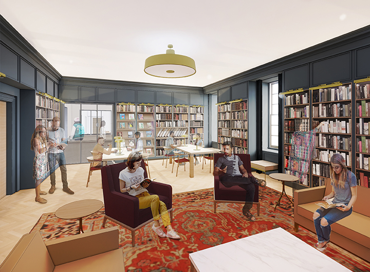 Rendering of Booklover's Room