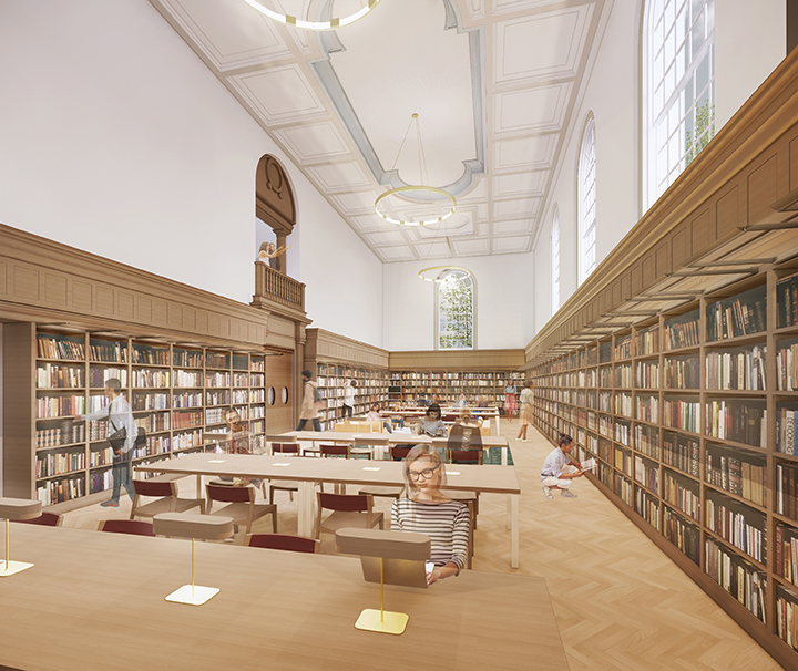 Rendering of Carpenter Reading Room