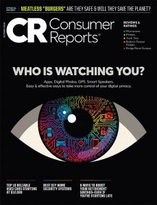 October 2019 cover of Consumer Reports