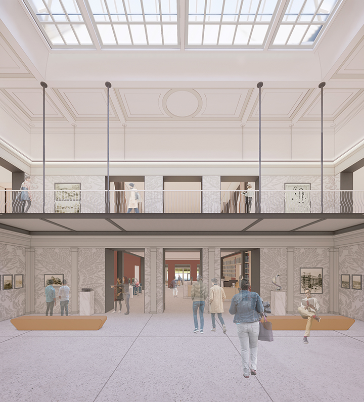 Rendering of Lilly Library Gallery