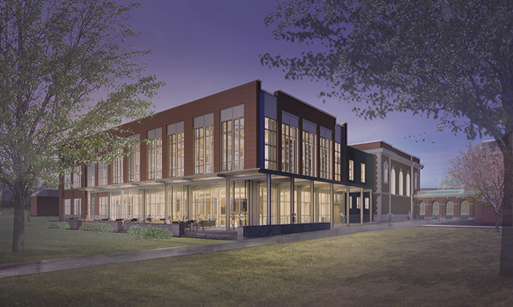 Architectural rendering of Lilly Library