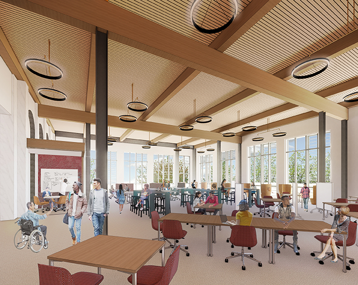 Rendering of Open Reading Room