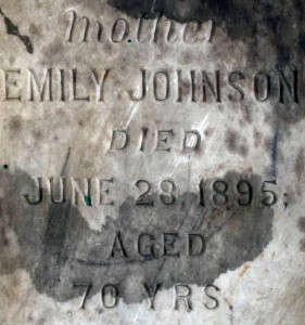 Close up of gravestone