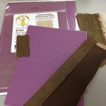 Embossing plates (purple).