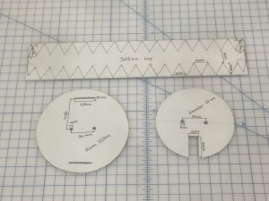 My carefully measured templates