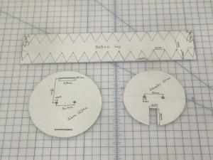 My carefully measured templates