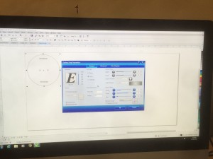 Vector drawing and print settings