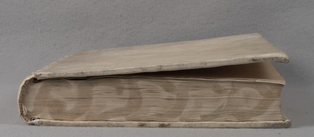 Warping parchment binding