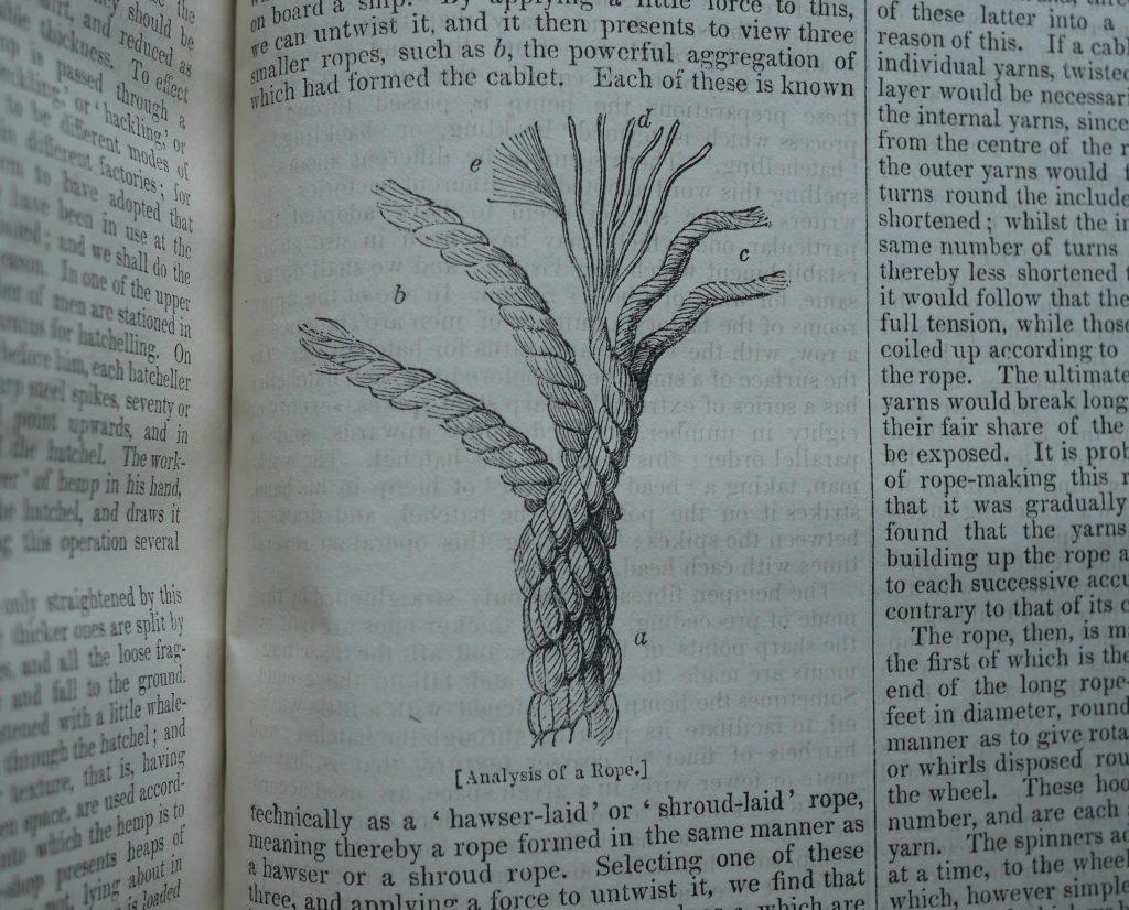 Rope Illustration, Penny Magazine (1842)