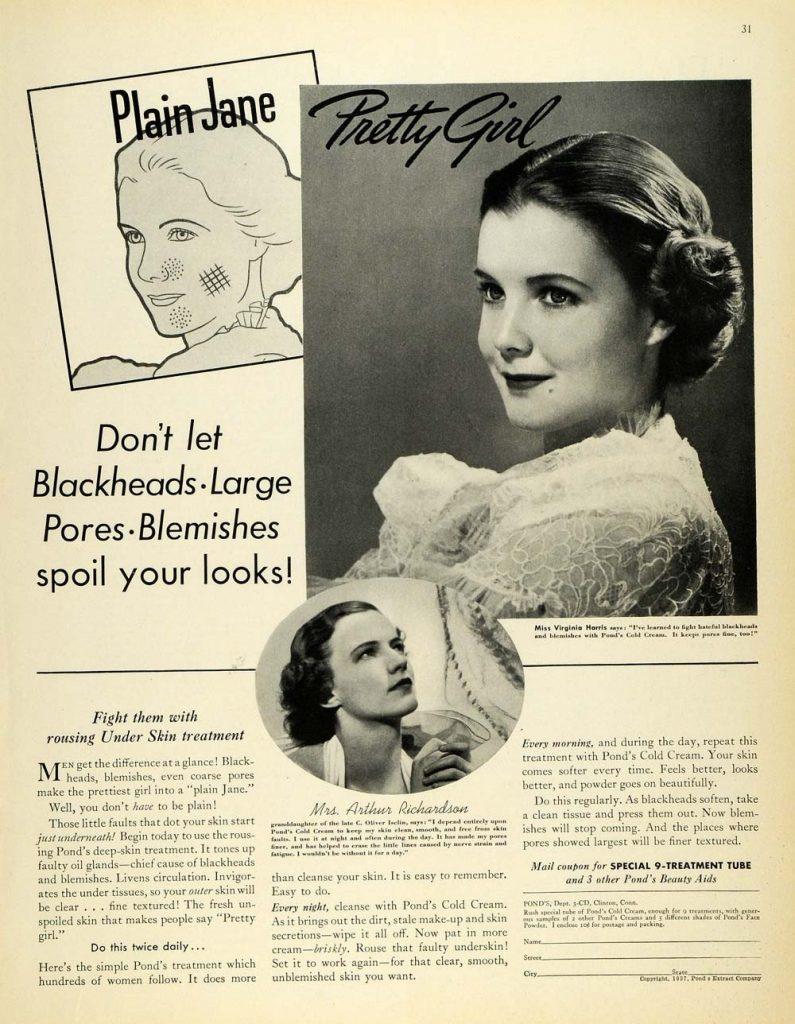 Ponds magazine ad, 1927