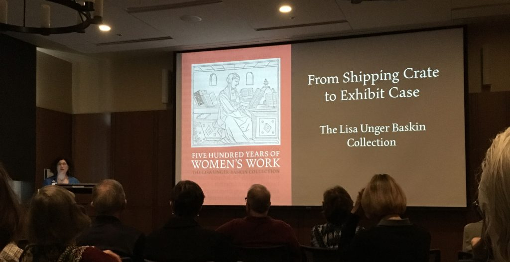Naomi Nelson, Director of Duke's David M. Rubenstein Rare Book & Manuscript Library, speaks about the Lisa Unger Baskin Exhibit.