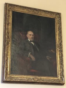 Washington Duke by John Da Costa in the Gothic Reading Room