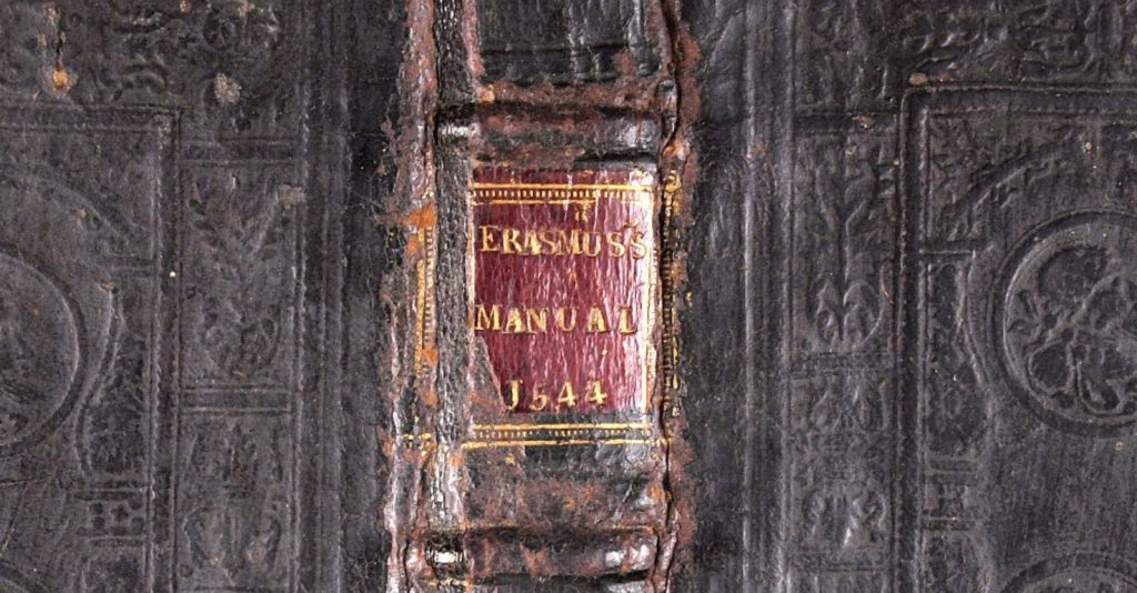Image of book spine from the Folger Bindings Image Collection