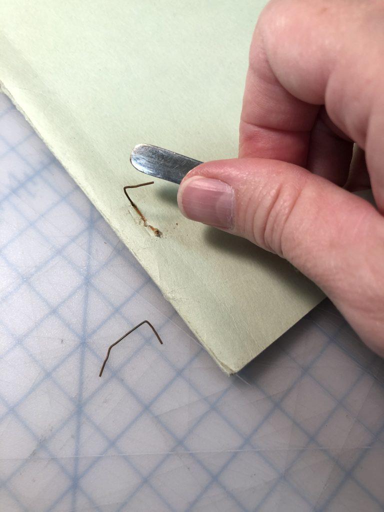 removing rusty staples