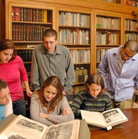Instruction Session in the Rare Book Room