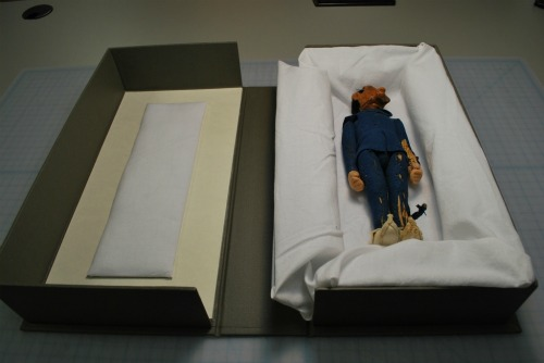 Blue Devil Doll in His Box