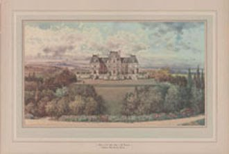 Artist's rendering of a proposed Duke mansion.