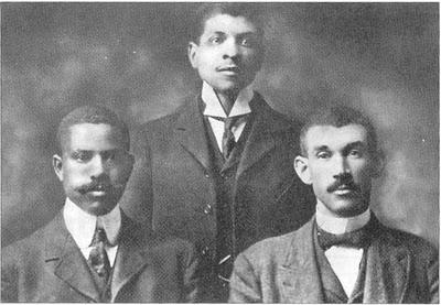 North Carolina Mutual founders John Merrick, C.C. Spaulding, and Aaron Moore